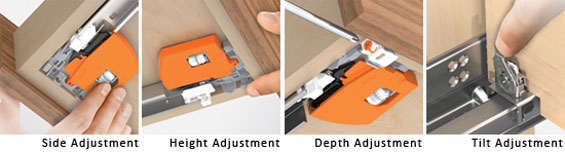 Blum 563h5330b Tandem Plus Blumotion 21 Drawer Runner Pair For Face Frame Silver Cabi And Furniture Slides